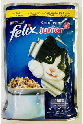 FELIX Junior Tavuklu 100 Gr Yavru Kedi Konservesi 0-1 Yaş 20 X Adet