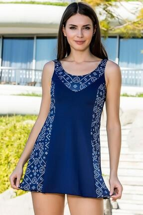 Armes Kadın Lacivert Garni Şortlu Elbise Mayo