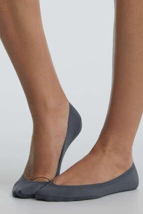 Oysho Kadın Gri 2 Çift Düz Görünmez Çorap