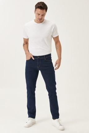 ALTINYILDIZ CLASSICS Erkek Lacivert Slim Fit Dar Kesim Denim Esnek Jean Kot Pantolon