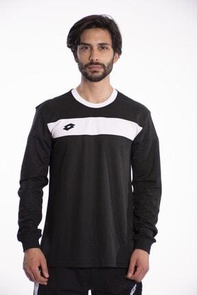 Lotto T-shirt Uzun Kollu Erkek Siyah/beyaz-lucca Tee Ls Pl