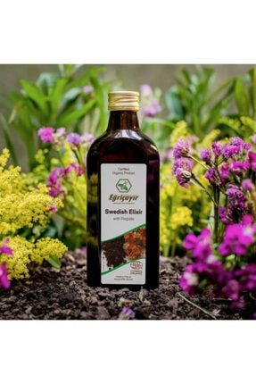 Eğriçayır Organik Alkollü Isveç Iksiri, Propolisli 250ml