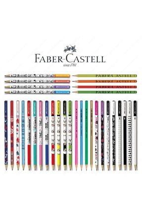 Faber Castell Lüx Mercanlı Karışık Yuvarlak Kurşun Kalem 12 Adet