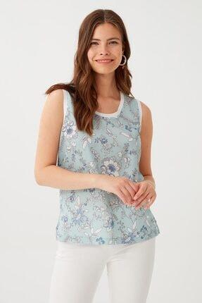 Chima Ribana Detaylı Kolsuz Bluz