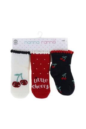 Mammaramma 10088 Çok Renkli Baskılı Kızbebek Spor Çorap