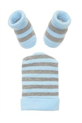 Mammaramma Çok Renkli Çizgili Erkek Bebek Soket Çorap