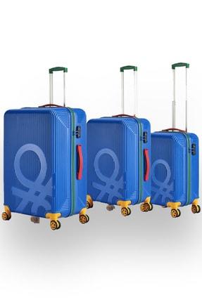 Benetton Mavi Valiz Seti 3'lü