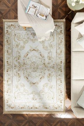 English Home Silk Touch Olivia Kadife Halı 120x180 Cm Ekru