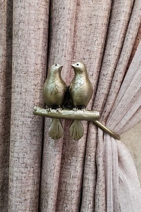 lissehome Kuşlu U Renso Bronz Eskitme