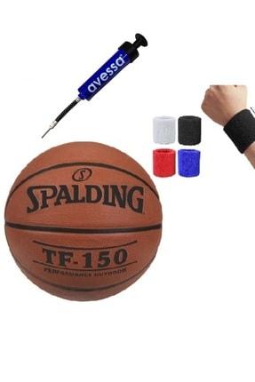 SPALDING Tf-150 Basketbol Topu No: - 7 Numara + Pompa + Havlu Bileklik