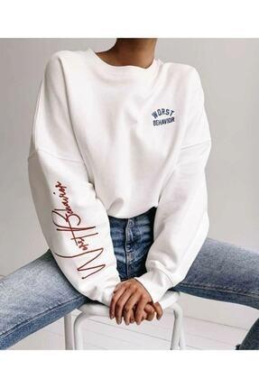 Black Sokak Kadın Bhvr Baskı Oversize Sweatshirt