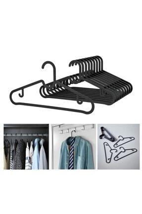 IKEA Spruttig Askı Siyah Esnek Plastik ( 10 Adet )