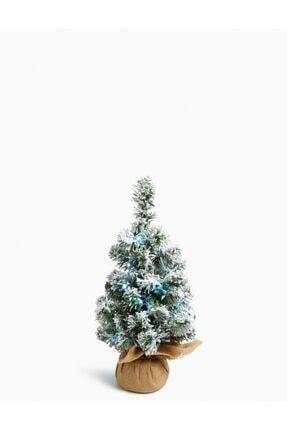 Marks & Spencer 45 Cm Işıklı Ve Karlı Çam Ağacı