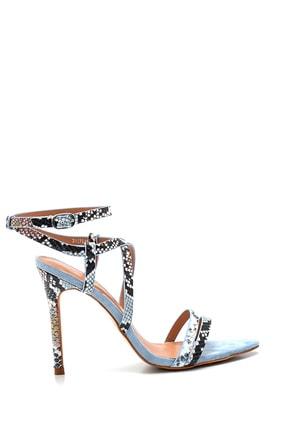 Derimod Kadın Baskılı Topuklu Sandalet