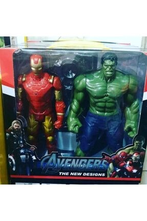 AVENGERS Ironman Ve Hulk 2li Figür Oyuncak Işıklı