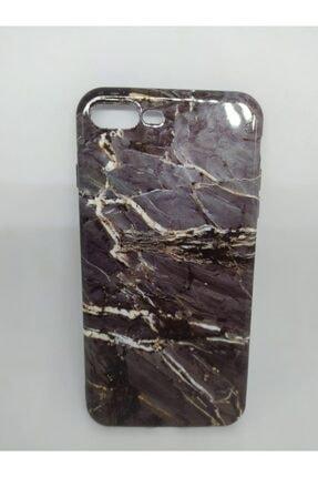 Penguen Apple Iphone 7 Plus Ve 8 Plus Uyumlu Mermer Granit Desenli Kılıf