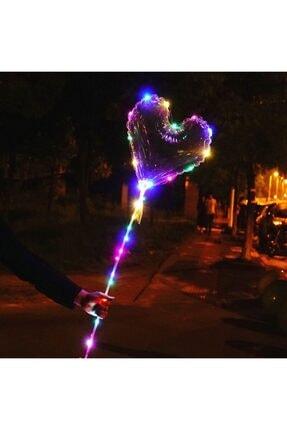 Balon 3m Led Işıklı 46 Inç Şeffaf Kalp