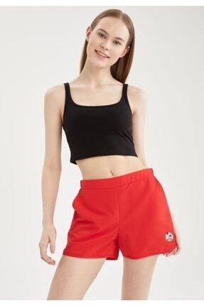 DeFacto Kadın Kırmızı Basic Mini Yüzme Şortu