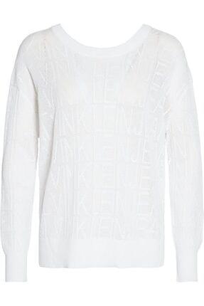 Calvin Klein Kadın Beyaz Trıko