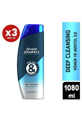 Head&Shoulders Head & Shoulders Duş Jeli ve Şampuan Deep Cleansing 360 ML *3
