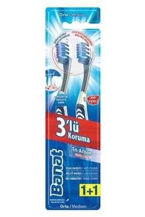 Banat Tri-action 3'lü Koruma Diş Fırçası 2'li