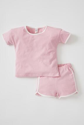 DeFacto Kız Bebek Kısa Kollu Tişört Ve Şort Takımı