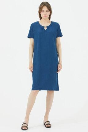 Sementa Rahat Kalıp Elbise - Indigo