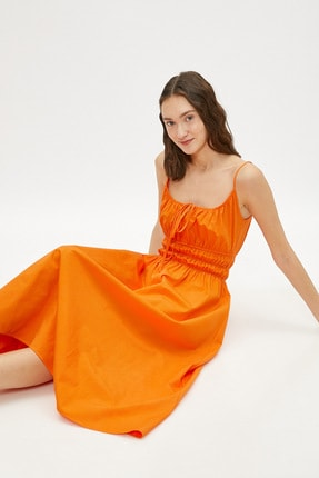 Koton Kadın / Kız Yetişkin Turuncu Elbise