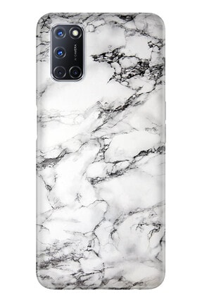 Oppo A72 Pure Modern Desenli Silikon Kılıf Banyo Mermer