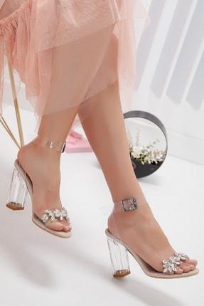 Shoe Miss Madrid Şeffaf Taşlı Sandalet