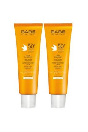 Babe Spf 50+ Yüz Için Güneş Koruyucu Krem 2x50 ml