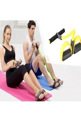 ANADOLU AVM Ayak Çekme Egzersiz Lastiği 1 Adet Kondisyon Mekik Direnç Spor Egzersiz Aleti