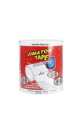 Streak Jimatör Beyaz Renk Suya Dayanıklı Tape Bant Su Geçirmez Güçlü Boru Flex Tamir Bandı - Beyaz