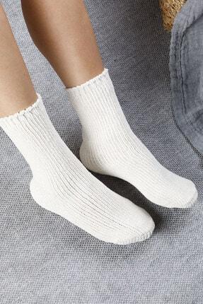 English Home Velvet Kadife Kadın Çorap 36-38 Ekru