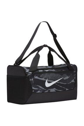 Nike Spor Çantası Duffel Bag S 50cm Siyah Gri Desen
