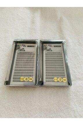 New Life Ipek Kirpik 3d- 3 Kutu D Kıvrım 0,12 Kalınlık 12-13mm Uzunluk (2 Kutu)