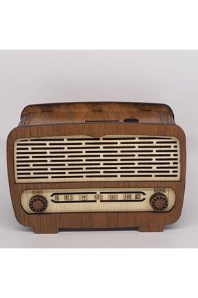 Didymahome Rustik Ahşap Radyo Kumbara