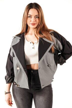 Robin Kadın Siyah Noktalı Ceket
