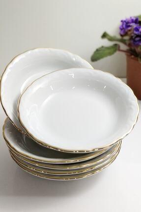Porland 6'lı Altın Yaldızlı 13 Cm Porselen Kahvaltı Tabak