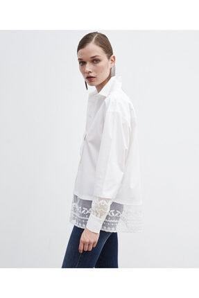 İpekyol Eteği Dantel Mixli Gömlek