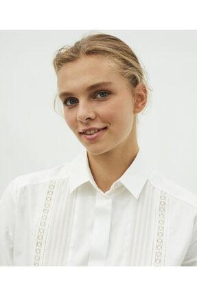 İpekyol Dantel Şeritli Gömlek