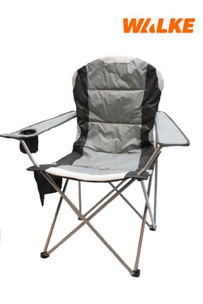 Walke Kamp Sandalyesi Katlanır Büyük Boy Taşıma Çantalı Gri
