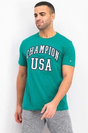 Champion Tshirt Easyfit Graphic Usa Yeşil