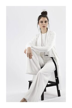 miaruj Beyaz Triko Ithal Astarlı Pantalon Ceket Takım