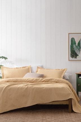 Yataş Bedding Bertin Çift Kişilik Yatak Örtüsü Seti  Hardal