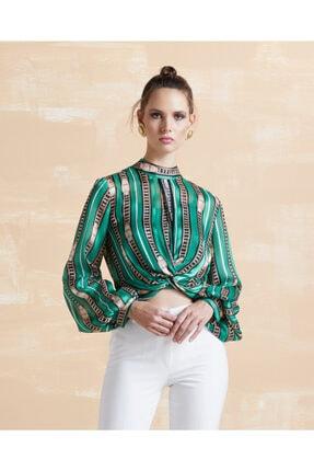 SERPİL Desenli Bluz