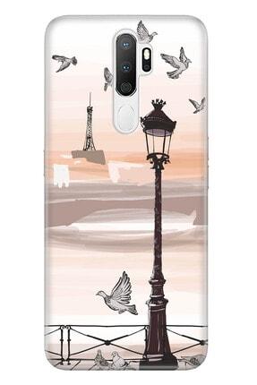 Oppo A5 A9 2020 Pure Modern Desenli Silikon Kılıf Sonbahar