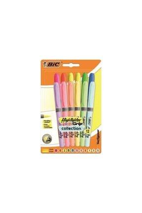 Bic Pastel 6 Pastel + 6 Canlı Renk 12'li Fosforlu Kalem - Blister
