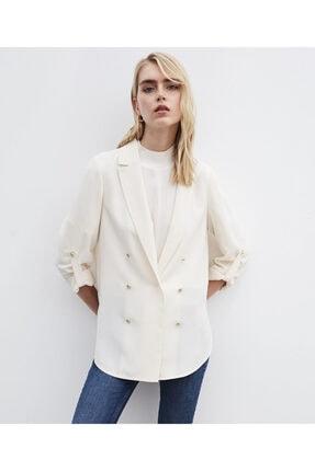 İpekyol Düğme Aksesuarlı Ceket