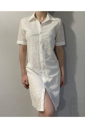 Robin Kadın Beyaz Fisto Elbise